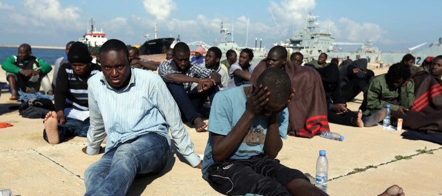 Inmigrantes en Libia