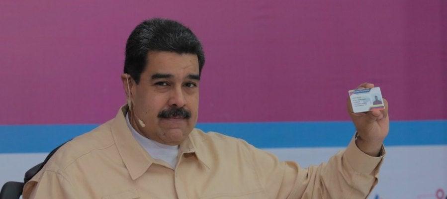 Nicolás Maduro hablando durante un acto de gobierno