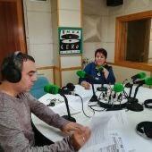Clara Luquero en los estudios de Onda Cero Segovia