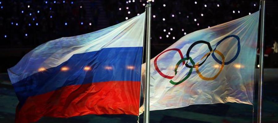 Las banderas de Rusia y los Juegos Olímpicos