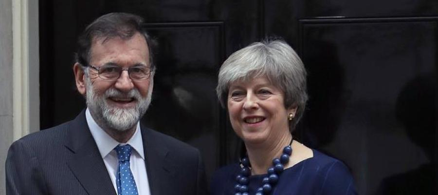Mariano Rajoy y Theresa May