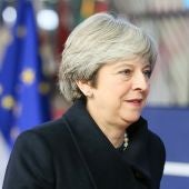 La primera ministra británica, Theresa May, a su llegada al Consejo Europeo en Bruselas (Archivo)