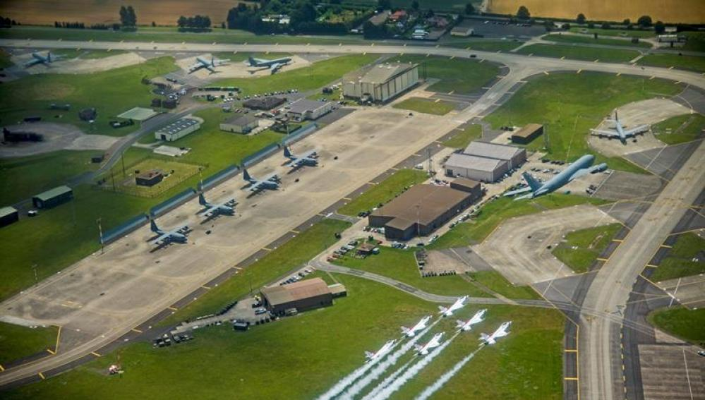 Base militar de EEUU en Suffolk (Reino Unido)