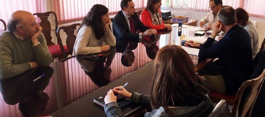 Reunión entre el Ayuntamiento y UTE Maceteros