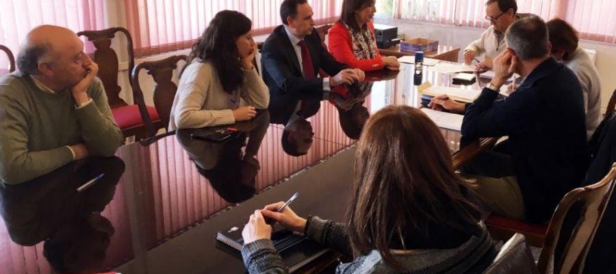 Reunión entre el Ayuntamiento y la UTE Maceteros