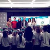Los niños del coro del Colegio Raimundo Lulio de Madrid