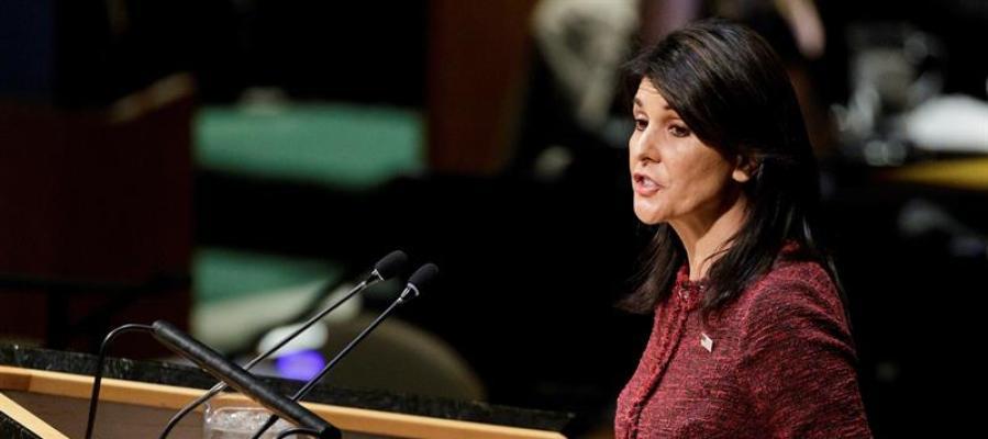 La embajadora estadounidense en la ONU, Nikki Haley