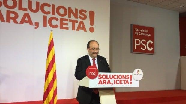 """Miquel  Iceta: """"La sensación es que el independentismo se va a poner de acuerdo con dificultades"""""""