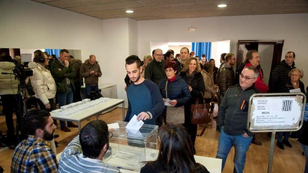 Votación en Cataluña