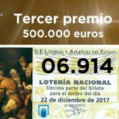 06.914, tercer premio de la Lotería de Navidad