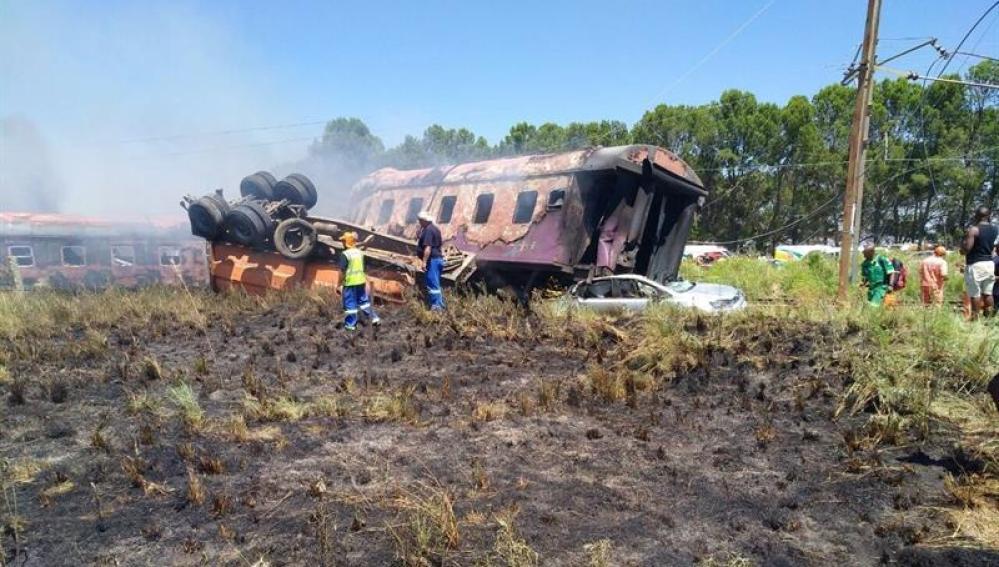 Accidente de tren en Sudáfrica
