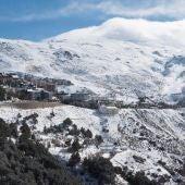 Aspecto que presenta la granadina estación de deportes invernales de Sierra Nevada