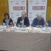 José Manuel Muñoz con algunos miembros de la Ejecutiva Provincial de CC.OO.