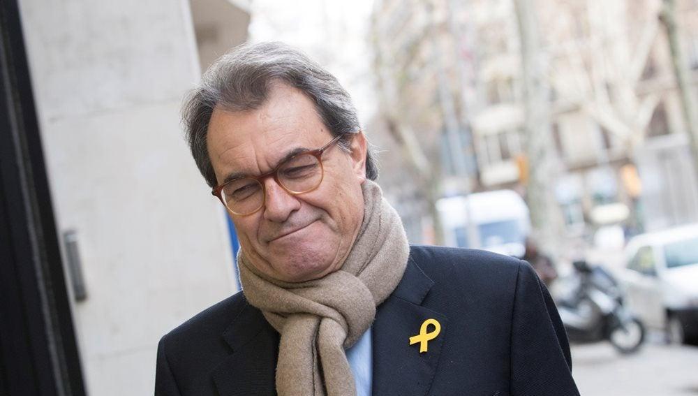 Artur Mas a su llegada a la reunión del comité nacional del PDeCat