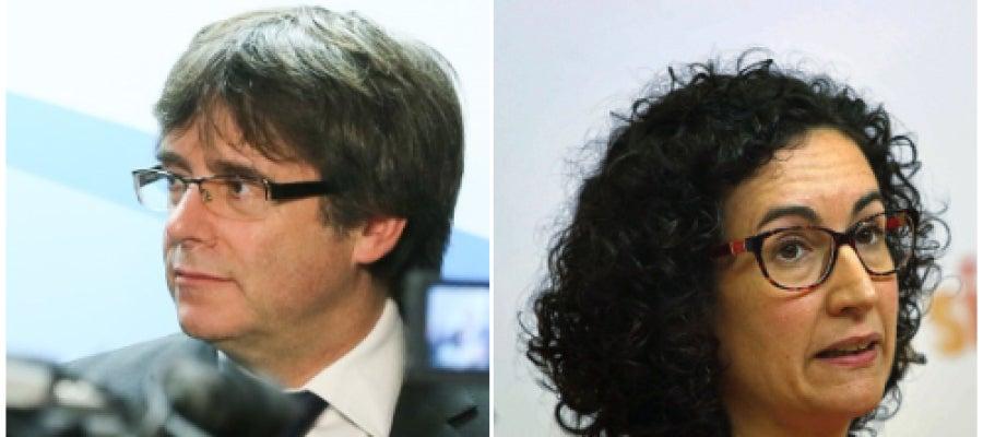 Carles Puigdemont y Marta Rovira