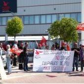Protesta de los trabajadores de Pelican Rouge