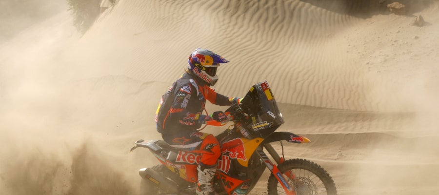 Toby Price, en una etapa del Dakar