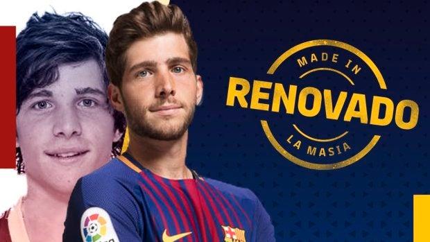 Sergi Roberto, renovado con el Barcelona hasta 2022