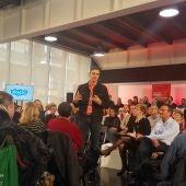 Pedro Sánchez, secretario general del PSOE en el centro de congresos de Elche