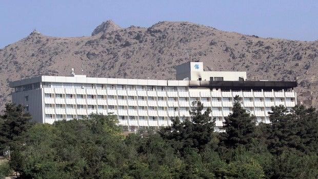 Fachada del Hotel Intercontinental de Kabul
