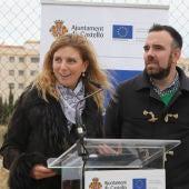 Imagen de archivo: la alcaldesa de Castellón, Amparo Marco, junto al concejal de urbanismo, Rafa Simó.