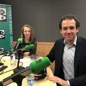 El conseller balear de Territorio, Energía y Movilidad, Marc Pons, en Mallorca en la Onda con Elka Dimitrova.