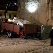Retiran la Cruz franquista de los Caídos de Callosa de Segura