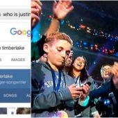 'Selfie kid' ignorando a Justin Timberlake