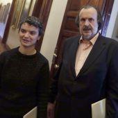 Los diputados de Unidos Podemos Lucía Martín y Miguel Anxo Fernández