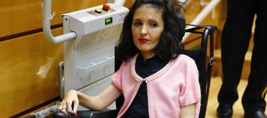 La senadora de Unidos Podemos, Virginia Felipe