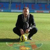El presidente del Huesca, Agustín Lasaosa