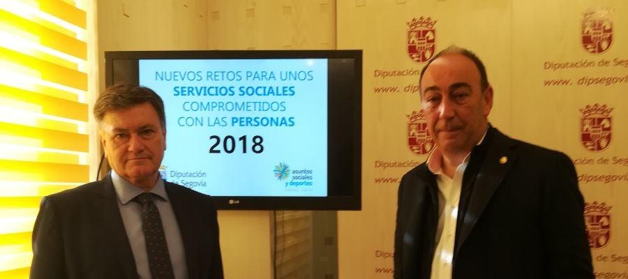 Francisco Vázquez y Miguel Ángel de Vicente en la rueda de prensa