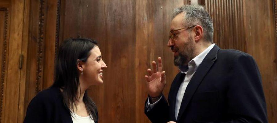 Irene Montero y Juan Carlos Girauta