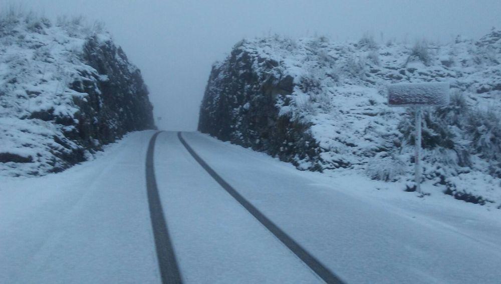 Nieve en la Serra de Tramuntana, Mallorca.