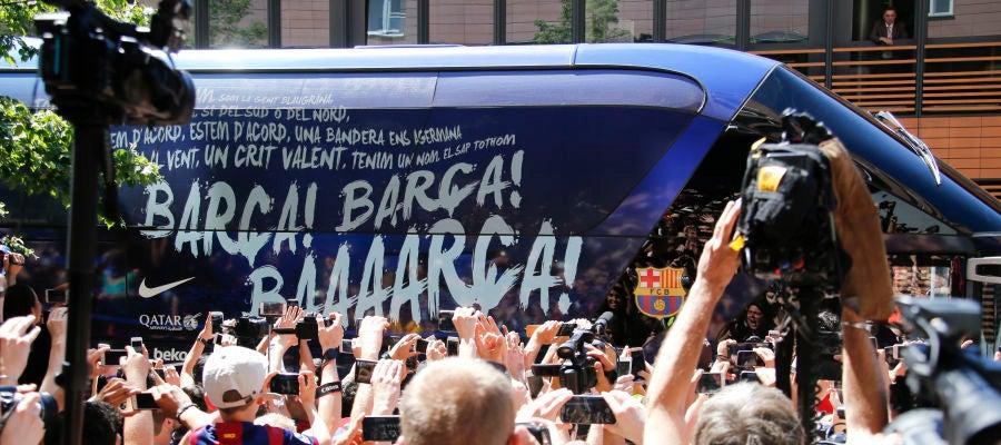 El autobús del Barcelona, en 2015