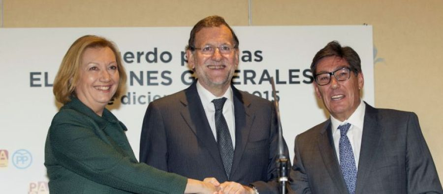 Firma del acuerdo PP-PAR