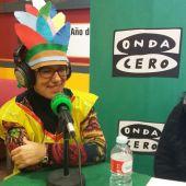 La alcaldesa de Miguelturra, Victoria Sobrino, durante la emision del programa C.Real en la Onda