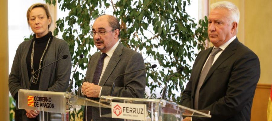 El Presidente de Aragón, Javier Lambán, y la consejera de Economía, Industria y Empleo, Marta Gastón, se han reunido con los directivos del Grupo Industrial Ferruz