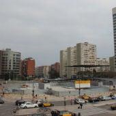 Plaza Països Catalans, en Barcelona