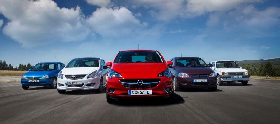 Las cinco generaciones del Opel Corsa se han producido desde sus inicios en 1982 en la planta de Figueruelas