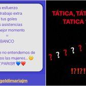 Las mujeres de Di María y Thiago Silva, críticas con Emery
