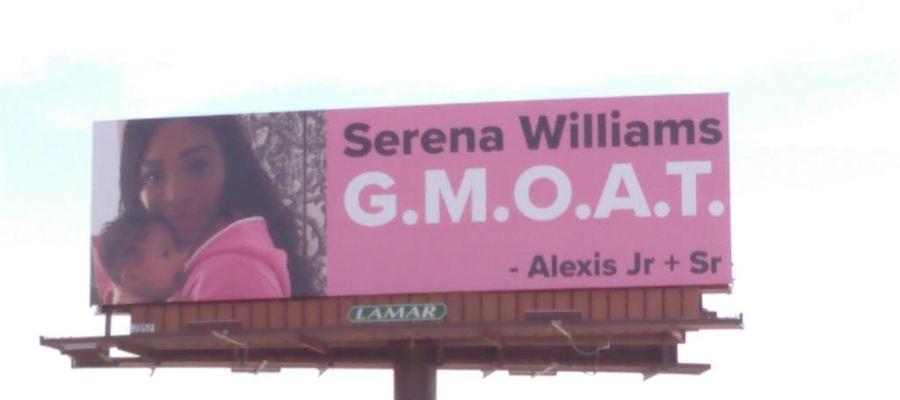 La valla publicitaria del marido de Serena Williams a su mujer