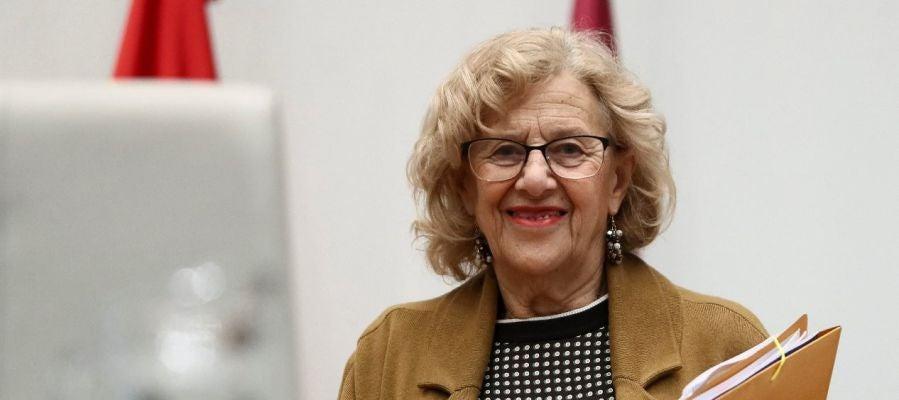 Manuela Carmena en el pleno del Ayuntamiento de Madrid