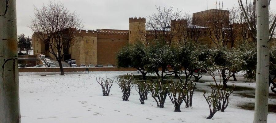 La nieve llega a Zaragoza