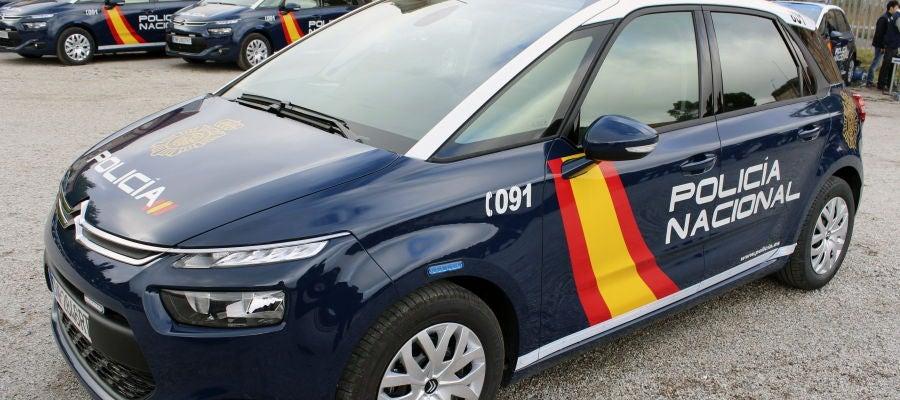 Fotografía facilitada por la Policía Nacional de uno de sus coches