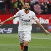 El 'Mudo' Vázquez celebra su gol contra el Athletic