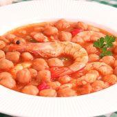Garbanzos con Langostinos | Potaje muy Fácil y Delicioso