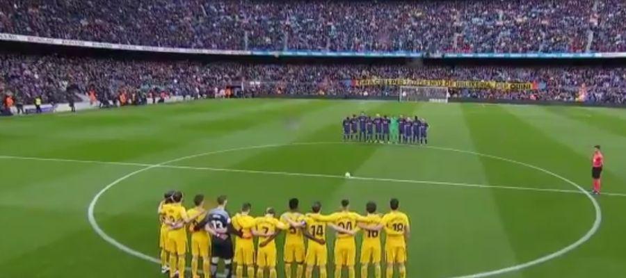 Minuto de silencio por 'Quini' antes del Barcelona - Atlético de Madrid