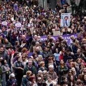 Manifestación de mujeres en Vigo