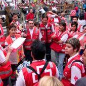 Un grupo de voluntarios de la Cruz Roja.